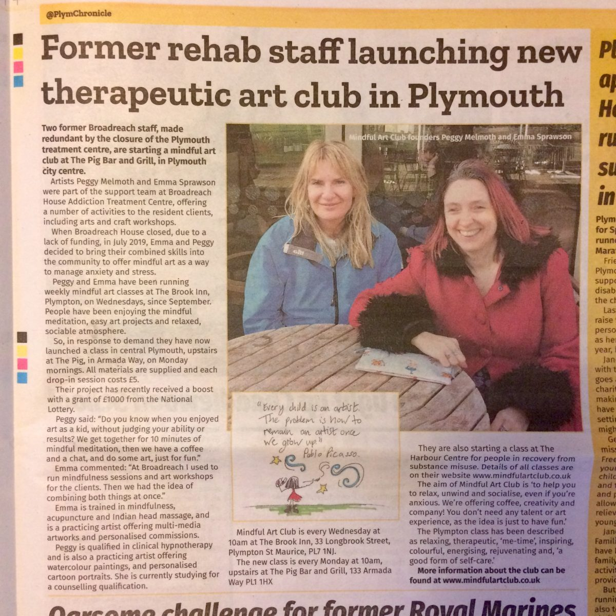 Featured in Plymouth Chronicle